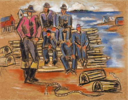 Study for Lobster Fishermen (1940)