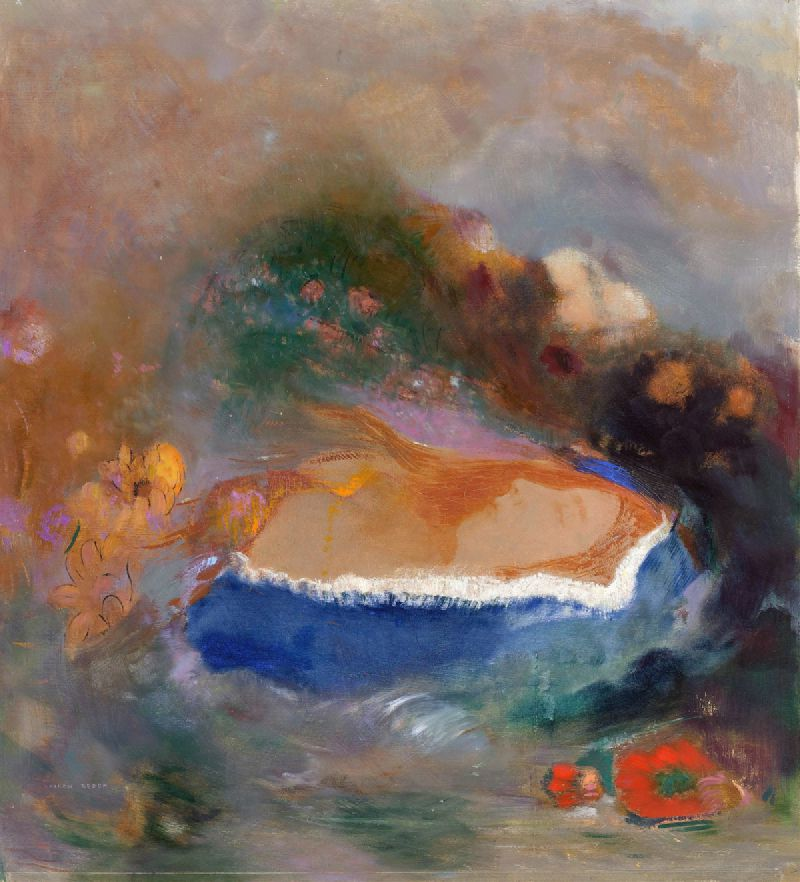 Ophelia with a Blue Wimple in the Water (1900 - 1905)