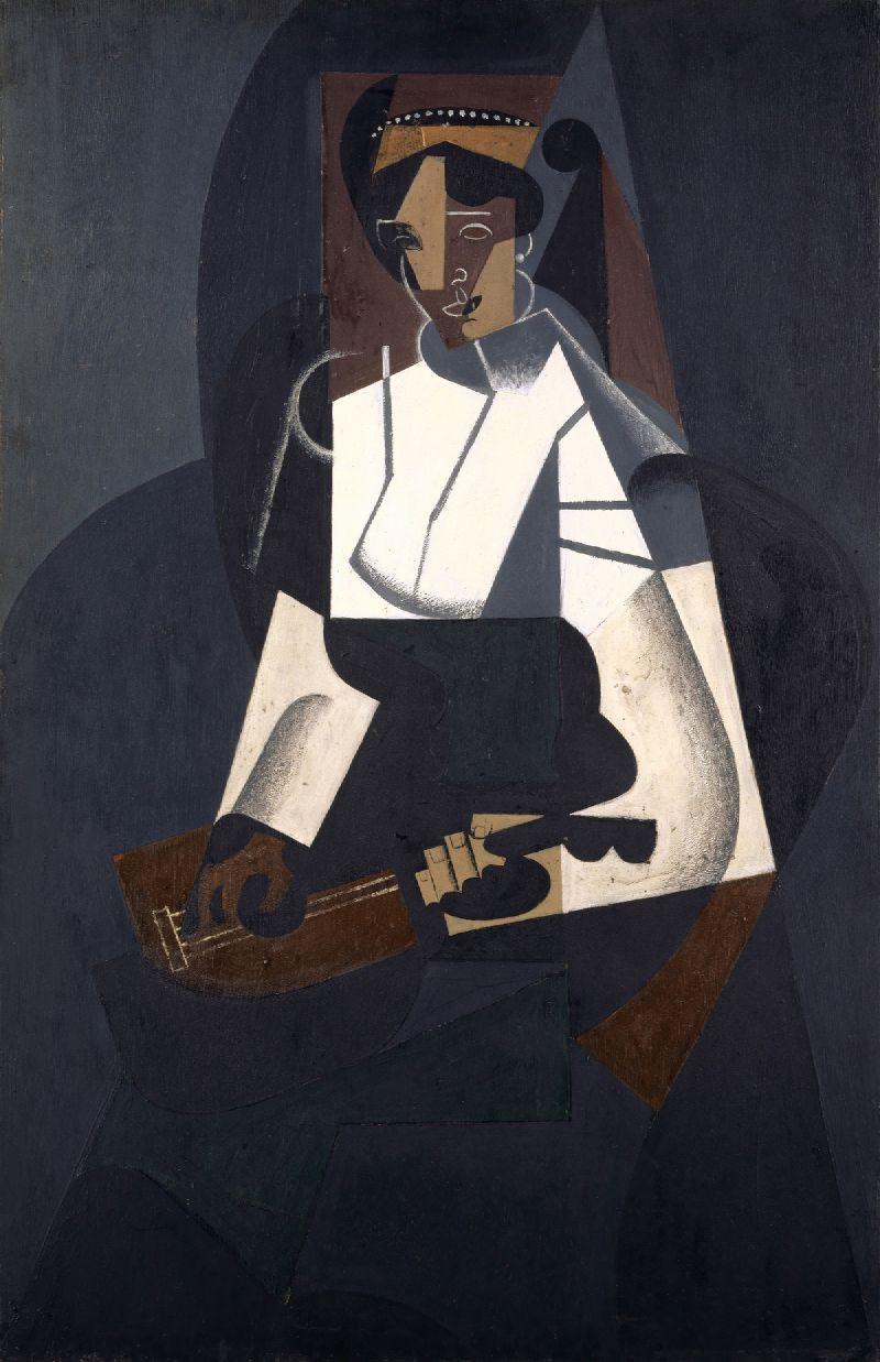 Woman with Mandolin (1916)