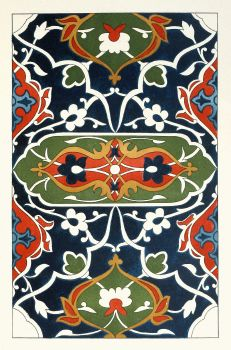 18 plates of ornamental tiles from the Afghan Boundary Commission Pl 17 (1884)