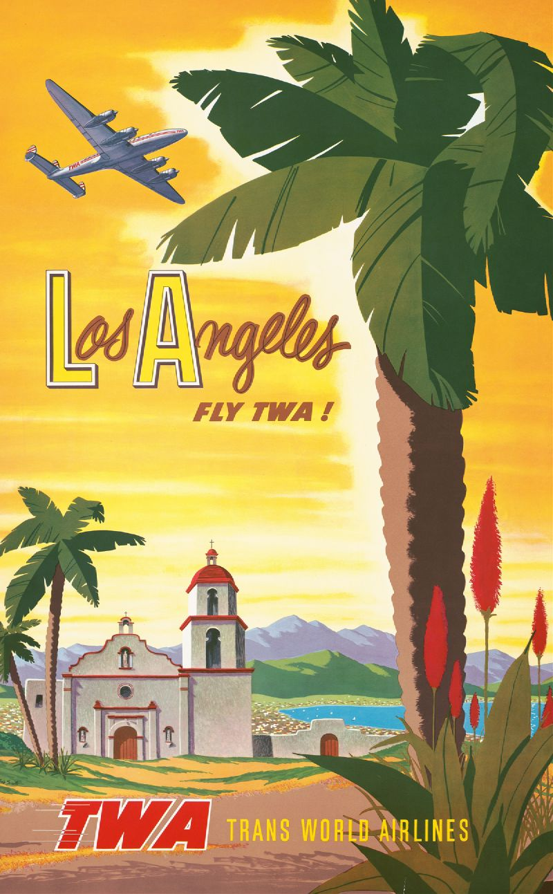 Los Angeles – fly TWA! (1950s)