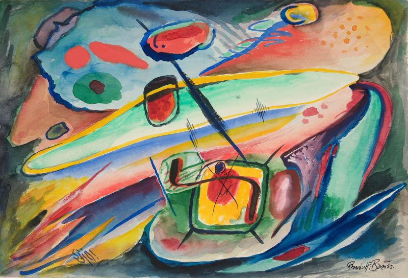 Untitled (Abstract Forms) (ca. 1917–18)