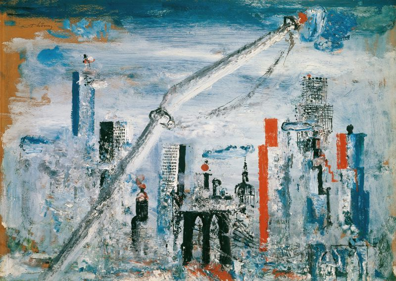 Ansicht von Manhattan (East River) (1935-1938)
