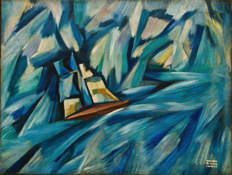 Sail boat (circa 1914)