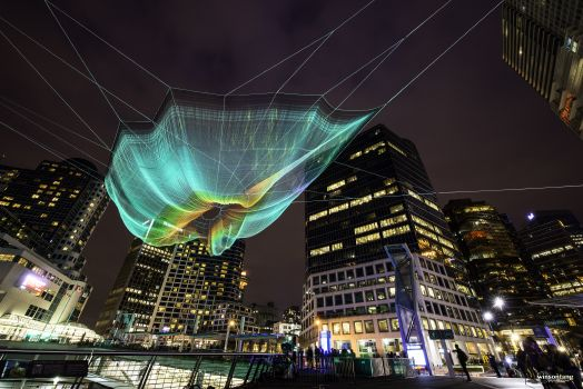Janet Echelman's Netting Sculpture - Explored! (2014)