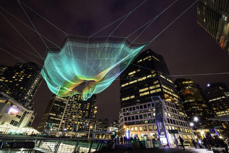Janet Echelman's Netting Sculpture - Explored! (2014)