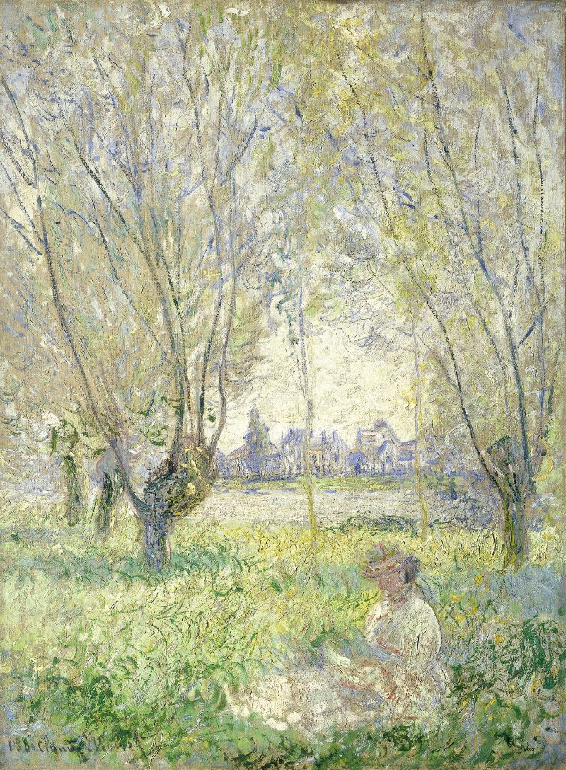 Woman Seated under the Willows (1880)