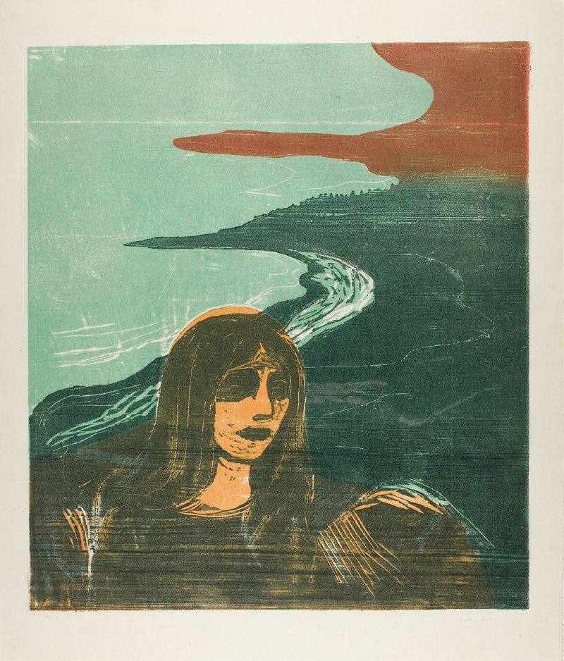 Woman's Head against the Shore (1899)