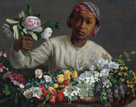 Young Woman with Peonies (1870)