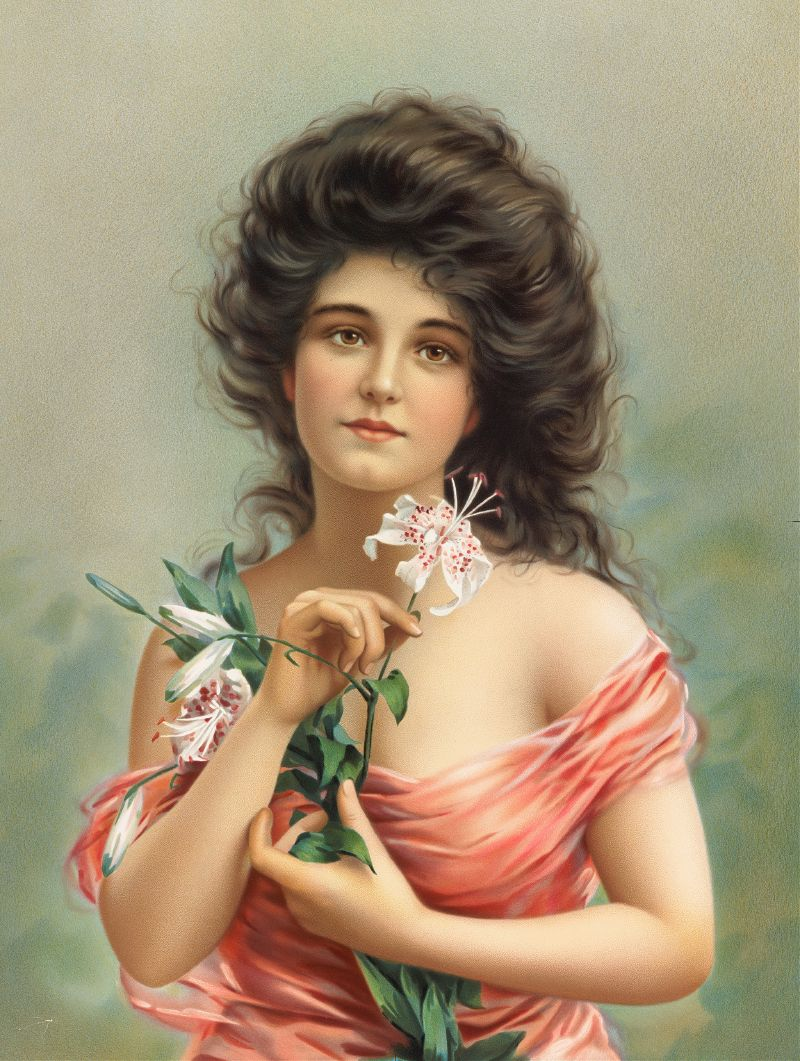 Woman with Lily (ca. 1861–1897)