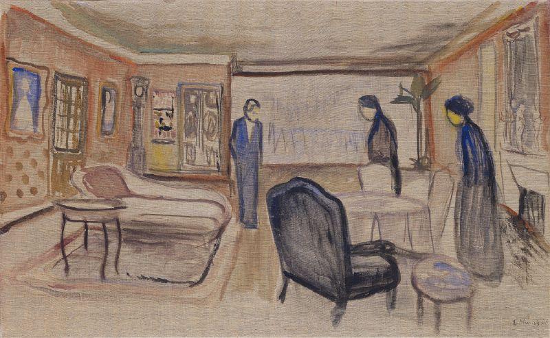 Scene of Ibsen's 'Ghosts' (1906)
