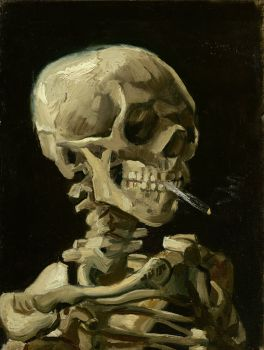 Head Of A Skeleton With A Burning Cigarettez (Happy Halloween!)