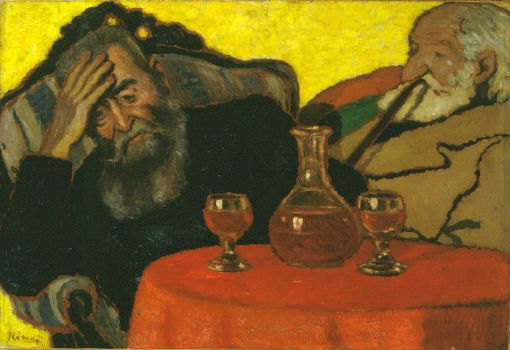 My Father and Piacsek, with Red Wine
