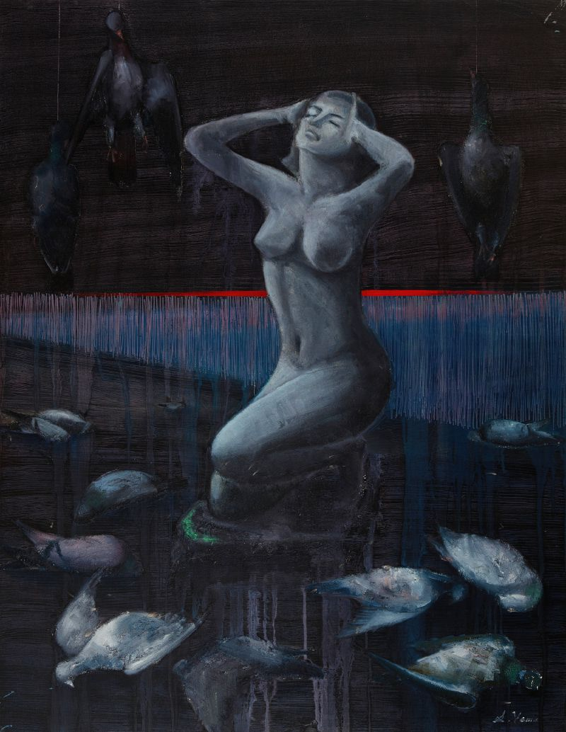 Nude Woman with Pigeons (1970-1975)