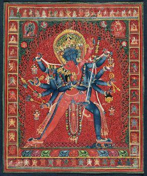 Chakrasamvara and consort Vajravarahi (ca. 1450–1500) during Sakya Order Period.