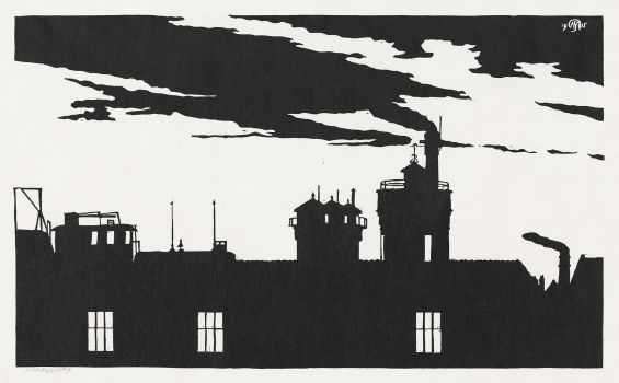 Silhouette Oostergasfabriek (1915)