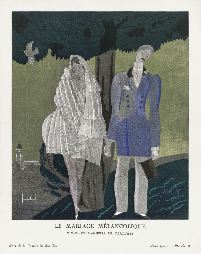 The melancholy marriage, Modes et Manières de Torquate (1921)