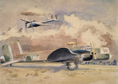 Whitley Bombers Sunning (1940)