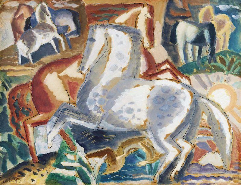 Horses in landscape (1928)
