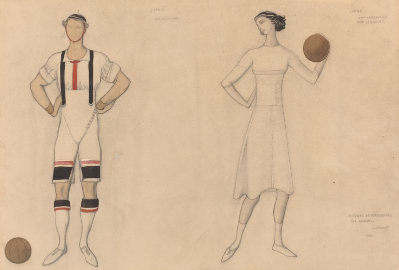 Costume Study for 'Jeux' (1913)
