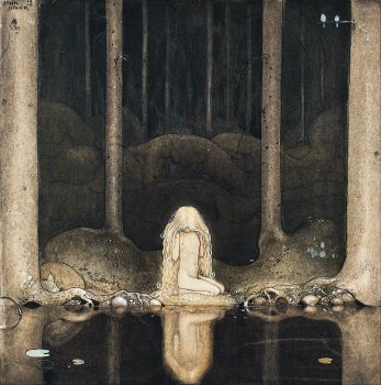 Princess Tuvstarr Gazing Down Into The Dark Waters Of The Forest Tarn (1913)