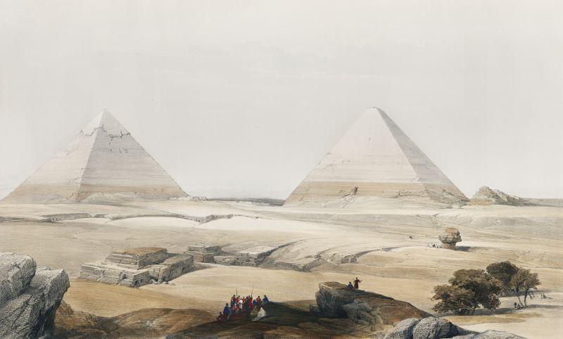 Pyramids of Geezeh (Giza) (1796–1864)