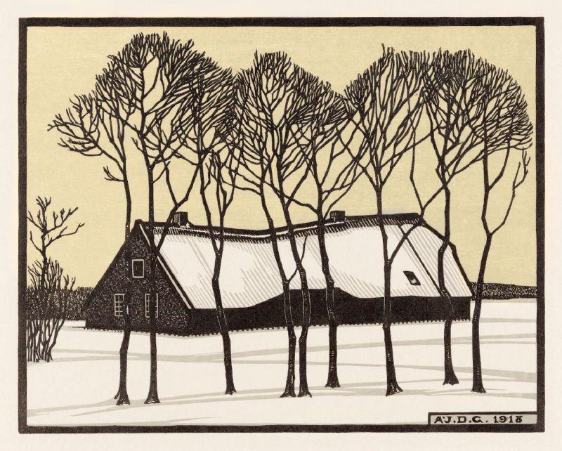 Farm in the snow (1918)