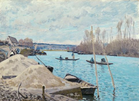 The Seine at Port-Marly, Piles of Sand (1875)