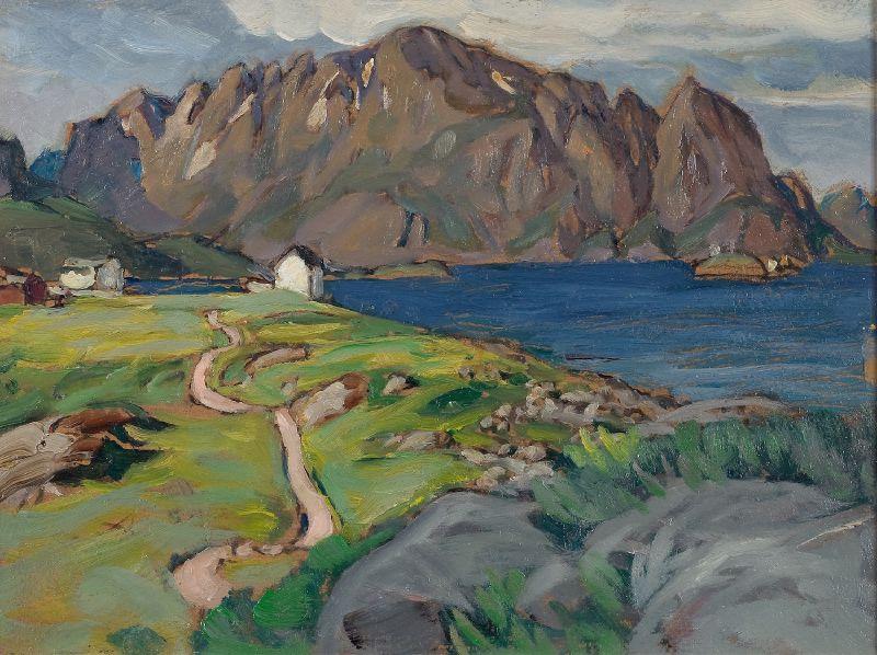 Summer, Store Molla. Study from Lofoten