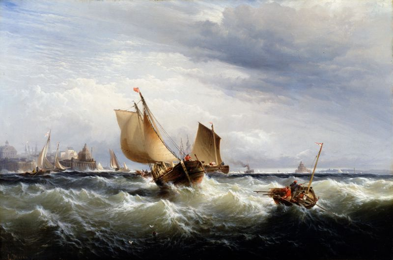 Fishing Boats Beating up to Windward (ca. 1858)