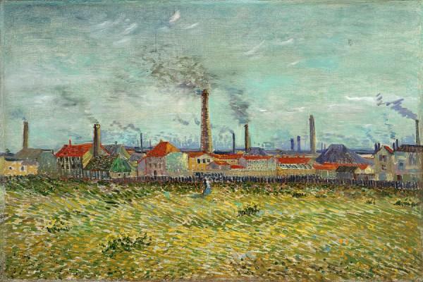 Vincent van Gogh – Factories at Clichy (1887)