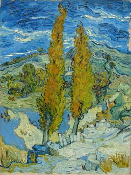 Two Poplars in the Alpilles near Saint-Rémy (1889)