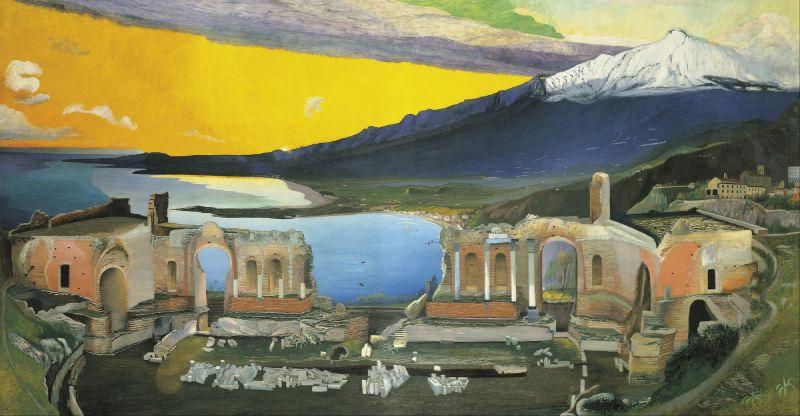 Ruins of the Greek Theatre at Taormina