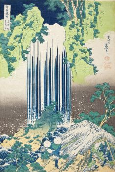 Yōrō Falls in Mino Province (circa 1833-1834)