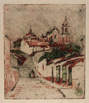 Church At Cuernavaca, Mexico (1912)