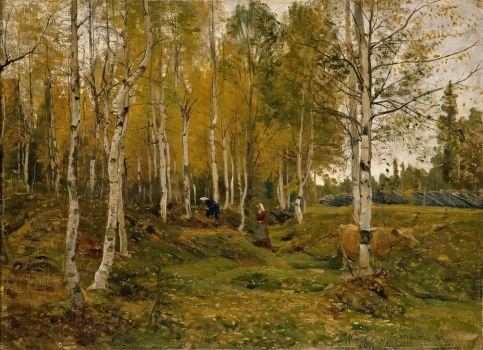 Birch Trees in Autumn (1880)
