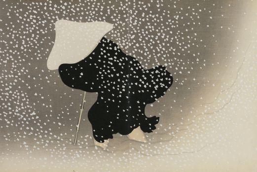 Swirling Snow (Tomoe no yuki) (1909-1910)
