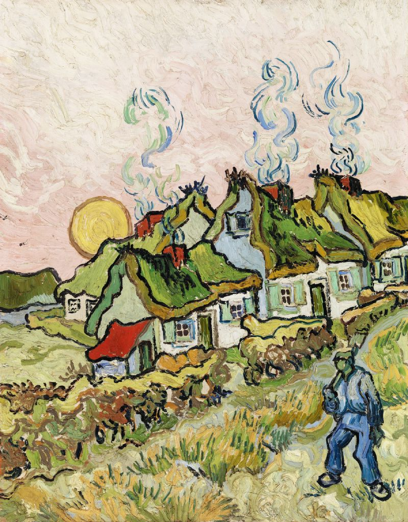 Houses and Figure (1890)