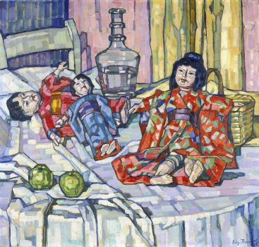 Japanese Dolls With Apples (1915)