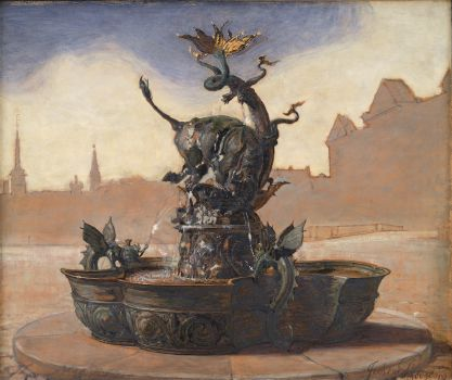 Sketch For Dragespringvandet (The Dragon Fountain) (1870 - 1909)