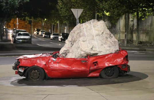 Still Life With Stone and Car (2008 in Sydney, Australia)