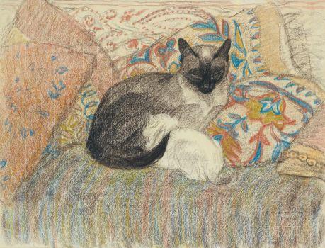Cat And Her Kitten (1920)