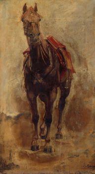 Étude de cheval pour le portrait équestre du comte de Palikao. (1876)