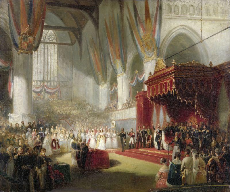 The Inauguration of King William II in the Nieuwe Kerk in Amsterdam on 28 November 1840 (1840 - 1845)