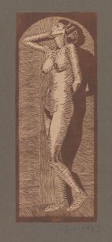 Vrouwelijk naakt staand (1914)