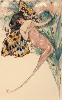 Fairy with Butterfly Wings (Sensibility) (circa 1907)