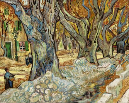 The Large Plane Trees (Road Menders at Saint-Rémy) (1889)