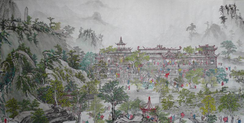 A 100 meter long landscape painting (2007)