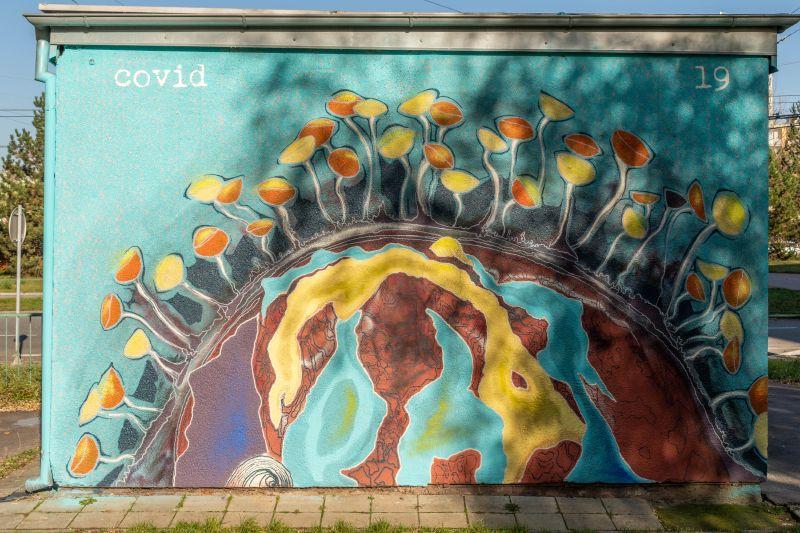 Street art work from the Malujemejinak studio in Brno's Vinohrady, Czech Republic (2020) Photo by: Michal Gregor