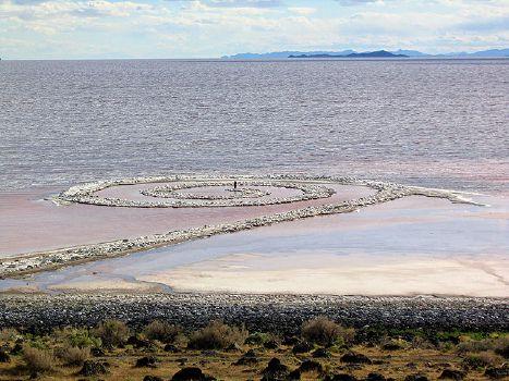 Spiral Jetty (1970 - Rozel Point, Great Salt Lake, Utah)